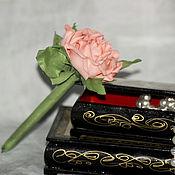 Подарки к праздникам handmade. Livemaster - original item Pen with rose gift colleague teacher graduation order. Handmade.