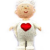 Мягкие игрушки ручной работы. Ярмарка Мастеров - ручная работа Мягкие игрушки: Ангел вязаный. Handmade.