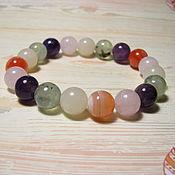 Украшения handmade. Livemaster - original item Bracelet rose quartz, prenite, Botswana, amethyst