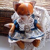 Куклы и игрушки ручной работы. Ярмарка Мастеров - ручная работа Tiny-Fox. Крошка-лисичка. Кофейный лисенок в стиле винтаж.. Handmade.