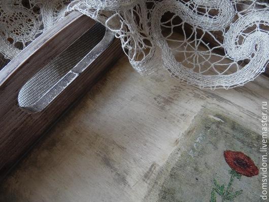 """Кухня ручной работы. Ярмарка Мастеров - ручная работа. Купить Набор подносов """"Фреска"""". Handmade. Серый, поднос для кухни"""