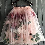 Одежда handmade. Livemaster - original item Skirt with roses. Handmade.