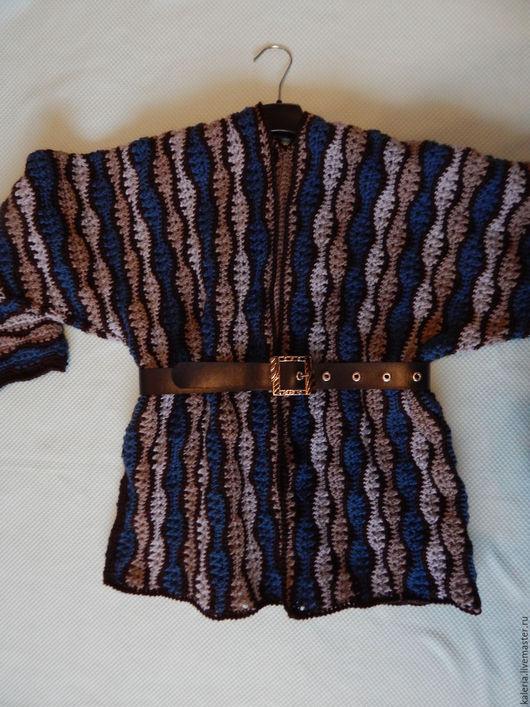 Пиджаки, жакеты ручной работы. Ярмарка Мастеров - ручная работа. Купить жакет волнистым узором. Handmade. Комбинированный