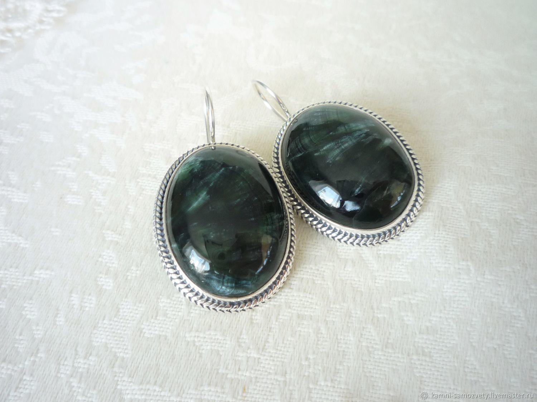Earrings serafinite, Earrings, Irkutsk,  Фото №1