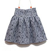 Работы для детей, handmade. Livemaster - original item Dressy skirt for girls blue gray lace. Handmade.