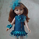 Одежда для кукол ручной работы. Ярмарка Мастеров - ручная работа. Купить Платье на куклу 32см. Paola Reina. Handmade. Разноцветный