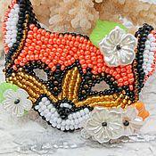Украшения handmade. Livemaster - original item Brooch-pin: Fox mask. Handmade.