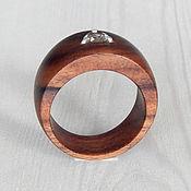 Украшения handmade. Livemaster - original item a ring of wood with green amethyst, size 18.5.. Handmade.