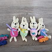 Материалы для творчества ручной работы. Ярмарка Мастеров - ручная работа Игрушка для куклы. Игрушка кролик - 13см.. Handmade.