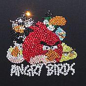 Картины и панно ручной работы. Ярмарка Мастеров - ручная работа Картина стразами AngryBirds. Handmade.