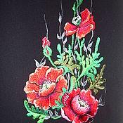 """Одежда ручной работы. Ярмарка Мастеров - ручная работа Костюм женский""""Маковое безумие""""вышитый класический. Handmade."""