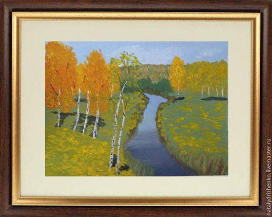 """Пейзаж ручной работы. Ярмарка Мастеров - ручная работа. Купить Картина """"Золотая осень"""". Handmade. Картина, купить картину, художник"""