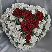 Свадебный салон ручной работы. Ярмарка Мастеров - ручная работа Свадебный букет в форме сердца. Handmade.