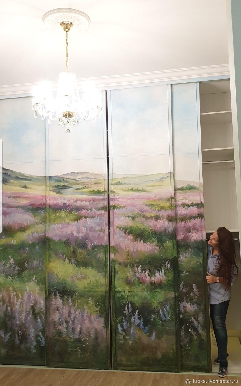 Роспись шкафа купе Цветочный луг, Декор, Москва, Фото №1