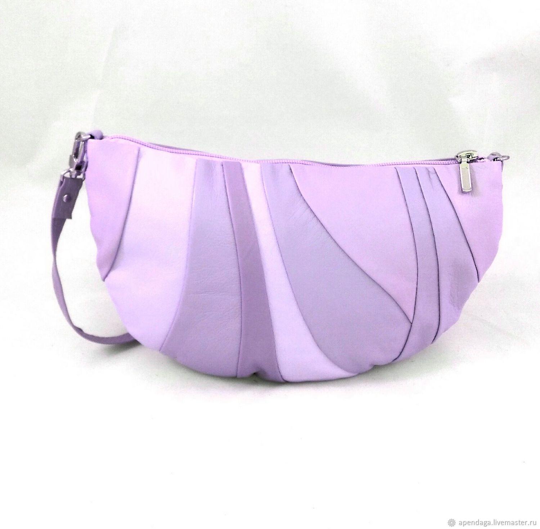 Women's leather bag 'Fiona lilac', Provence, lilac, Classic Bag, Ulyanovsk,  Фото №1