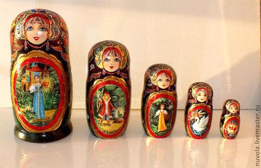 Матрешки ручной работы. Ярмарка Мастеров - ручная работа. Купить Матрешка 5 мест ''Русские сказки''. Handmade. Матрешка