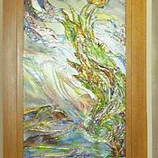 Для дома и интерьера ручной работы. Ярмарка Мастеров - ручная работа Витраж в стиле Ван-Гога,витражная картина,витражная живопись. Handmade.