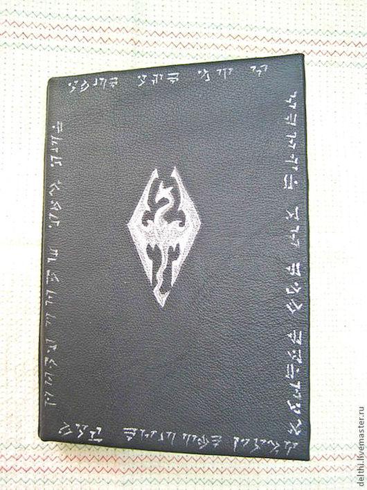 Блокноты ручной работы. Ярмарка Мастеров - ручная работа. Купить Кожаный блокнот  Skyrim (Скайрим). Handmade. Блокнот skyrim, skyrim