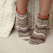 Аксессуары handmade. Livemaster - original item Socks woolen slim short