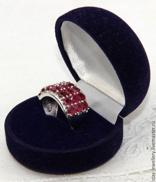 Кольца ручной работы. Ярмарка Мастеров - ручная работа. Купить Кольцо с рубинами. Handmade. Серебряный, рубин