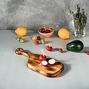Посуда handmade. Livemaster - original item Wooden board made of a single piece of Siberian cedar wood RD53. Handmade.