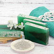Косметика ручной работы handmade. Livemaster - original item Soap with green clay. Handmade.