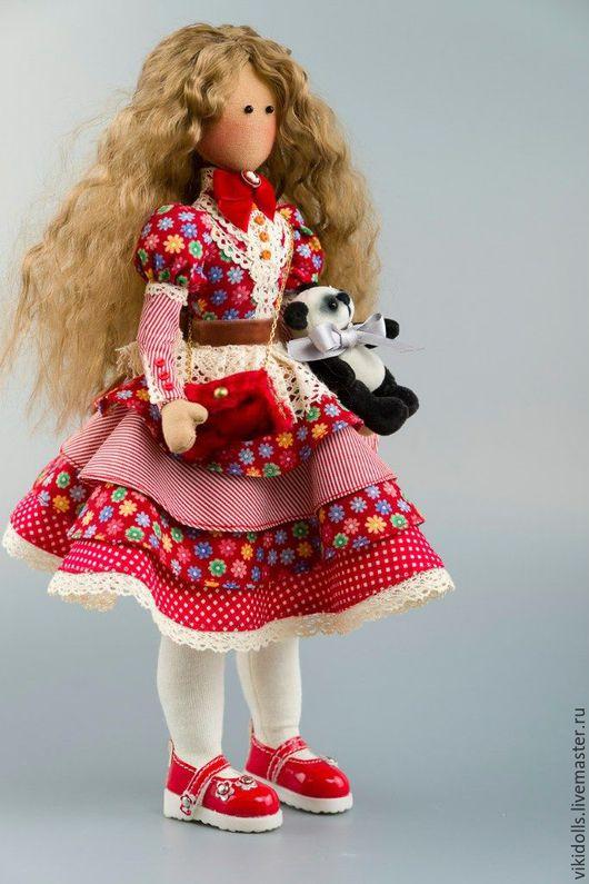 Коллекционные куклы ручной работы. Ярмарка Мастеров - ручная работа. Купить Кукла-Тильда 'Ledy in red' ед. экз.. Handmade.
