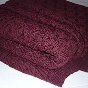 "Пледы ручной работы. Ярмарка Мастеров - ручная работа Плед Покрывало 230х210см ""Каберне"" вязаное. Handmade."