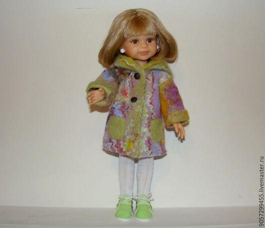 Одежда для кукол ручной работы. Ярмарка Мастеров - ручная работа. Купить Пальто валяное из шерсти для кукол Паола Рейна.. Handmade.