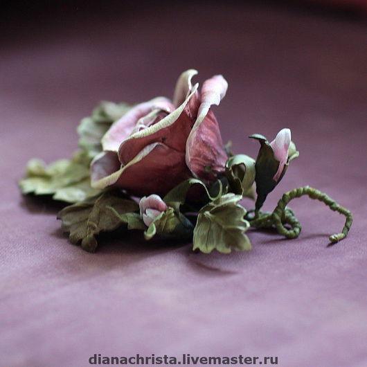 """Колье, бусы ручной работы. Ярмарка Мастеров - ручная работа. Купить Брошь-колье""""...Как свежи были розы"""".. Handmade."""