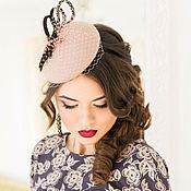 Аксессуары handmade. Livemaster - original item Felt mini hat with veil retro. Handmade.