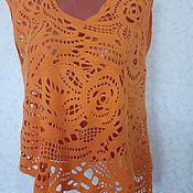 Одежда handmade. Livemaster - original item Summer tunic Yellow rose. Handmade.