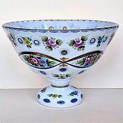 Винтаж handmade. Livemaster - original item Vase candy bowl Bohemia double-layer glass 50-60 gg. Handmade.