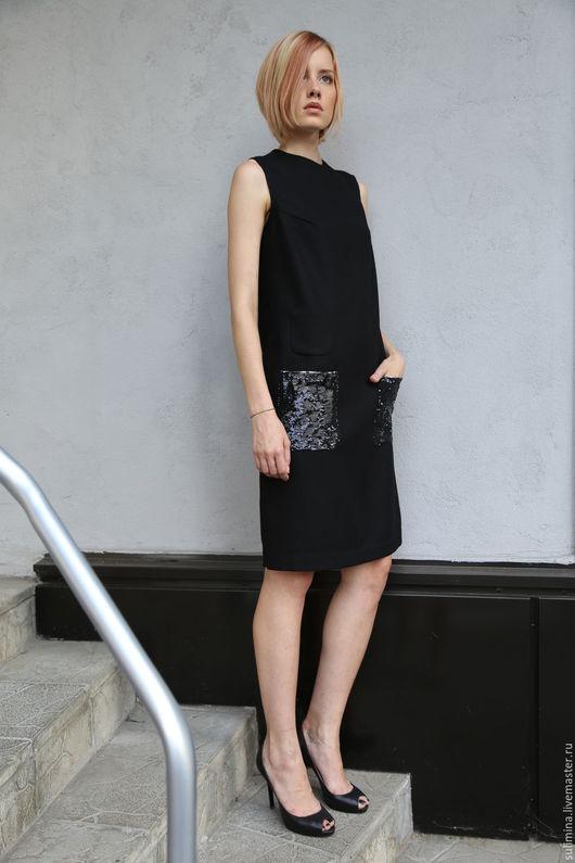 Платья ручной работы. Ярмарка Мастеров - ручная работа. Купить Платье-сарафан GLAM 1. Handmade. Черный, купить платье