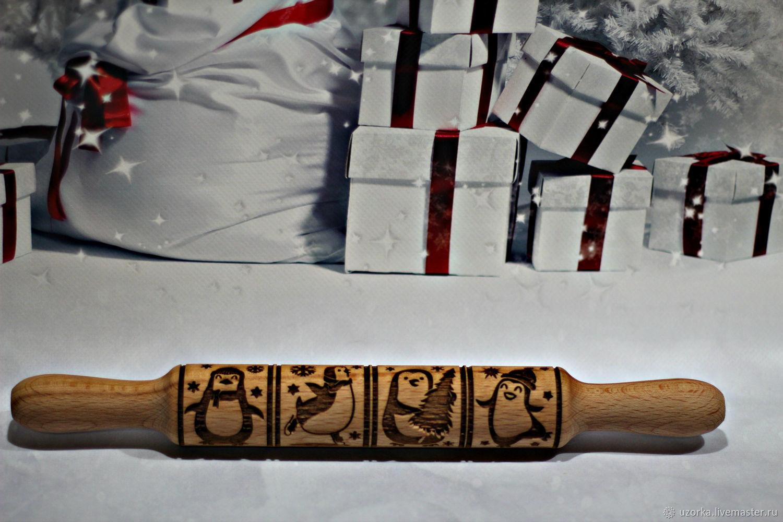 rolling pin: Gingerbread rolling pin 'Penguins', Rolling pins, Tyumen,  Фото №1