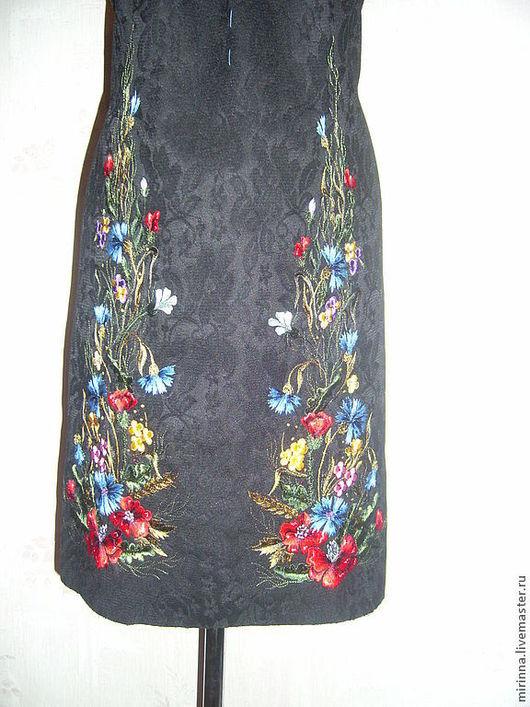 """Платья ручной работы. Ярмарка Мастеров - ручная работа. Купить Вышитое платье""""Яркие цветы"""" авторская ручная работа. Handmade. Цветочный"""