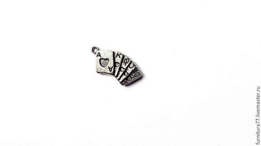"""Для украшений ручной работы. Ярмарка Мастеров - ручная работа. Купить Подвеска """"Колода карт"""". Handmade. Металлическая подвеска, рояль"""