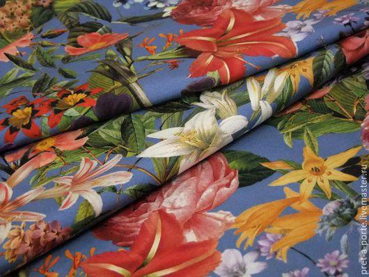 Шитье ручной работы. Ярмарка Мастеров - ручная работа. Купить D&G ткань костюмно-плательная оттоман, Италия. Handmade.
