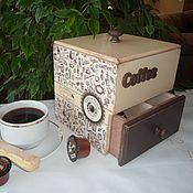 """Для дома и интерьера ручной работы. Ярмарка Мастеров - ручная работа Короб  """"КОФЕ"""". Handmade."""