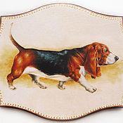 Картины и панно ручной работы. Ярмарка Мастеров - ручная работа Доска панно Собака - символ года. Handmade.