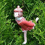Куклы и игрушки handmade. Livemaster - original item cotton christmas toy skater. Handmade.
