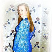 """Одежда ручной работы. Ярмарка Мастеров - ручная работа Кардиган """"Синие цветы"""". Handmade."""