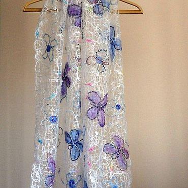 Accessories handmade. Livemaster - original item Favorite butterflies-Openwork scarf-stole. Handmade.
