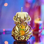 Свечи ручной работы. Ярмарка Мастеров - ручная работа Резная свеча. Новый Год. Рождество. Символ года. 2020. Handmade.