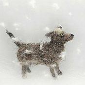 Куклы и игрушки ручной работы. Ярмарка Мастеров - ручная работа Открытка собака под снегом. Handmade.