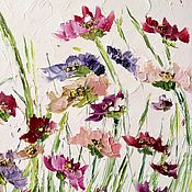 Картины и панно handmade. Livemaster - original item Peonies flowers Burgundy milk color buy painting. Handmade.