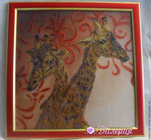 """Животные ручной работы. Ярмарка Мастеров - ручная работа. Купить Картина """"Волшебный узор"""", вышитая чешским бисером. Handmade. Разноцветный"""