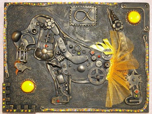 """Символизм ручной работы. Ярмарка Мастеров - ручная работа. Купить Панно """"Биглюшка Альфа"""". Handmade. Панно на стену, ассамбляж, лак"""
