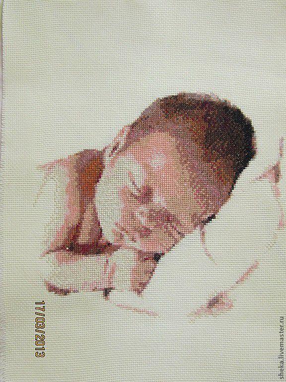 Вышивка крестом новорожденный купить