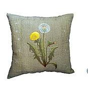 Для дома и интерьера handmade. Livemaster - original item Decorative interior pillow linen embroidery sofa cushion. Handmade.